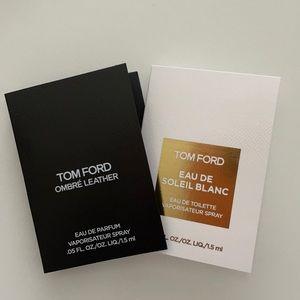 Tom Ford Ombré Leather + Soleil Blanc 1.5mL each